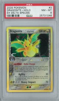 Pokemon EX Delta Species Dragonite 3/113 Single PSA 8
