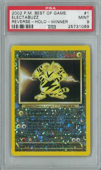 Pokemon Best of Game Electabuzz 1 - Winner Single PSA 9