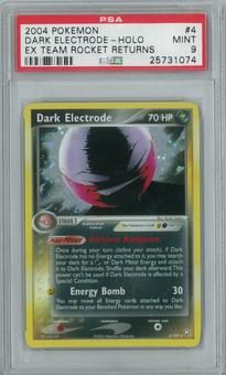 Pokemon EX Team Rocket Returns Dark Electrode 4/109 Single PSA 9
