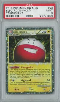 Pokemon HGSS Triumphant Electrode 93/102 Single PSA 9