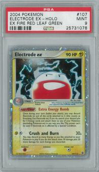 Pokemon EX Fire Red Leaf Green Electrode ex 107/112 Single PSA 9