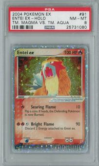 Pokemon Team Magma vs Team Aqua Entei ex 91/95 Single PSA 8