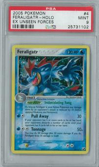 Pokemon EX Unseen Forces Feraligatr 4/115 Single PSA 9