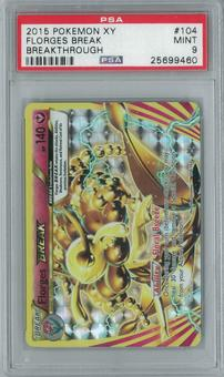 Pokemon Breakthrough Florges BREAK 104/162 Single PSA 9