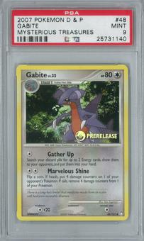 Pokemon Mysterious Treasures Gabite 48/123 Prerelease Single PSA 9