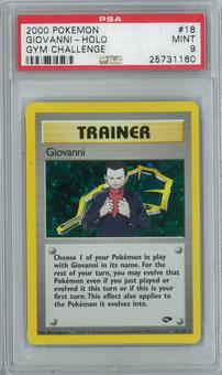 Pokemon Gym Challenge Giovanni 18/132 Single PSA 9