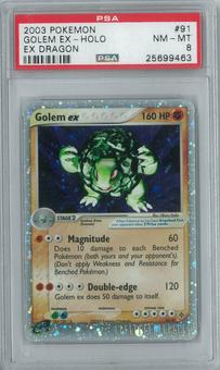 Pokemon EX Dragon Golem ex 91/97 Single PSA 8