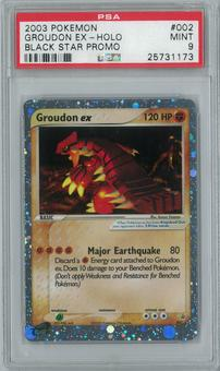 Pokemon Promo Groudon ex 002 Holo Single PSA 9