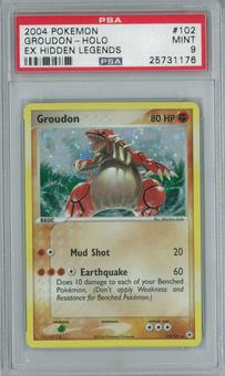 Pokemon EX Hidden Legends Groudon 102/101 Single PSA 9