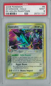 Pokemon EX Holon Phantoms Gyarados 8/110 Single PSA 9