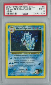 Pokemon Gym Challenge Giovanni's Gyarados 5/132 Single PSA 9