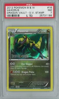 Pokemon Dragon Vault Haxorus 16/20 Stamped Single PSA 7