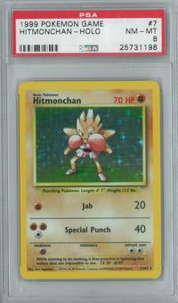 Pokemon Base Set Unlimited Hitmonchan 7/102 Single PSA 8