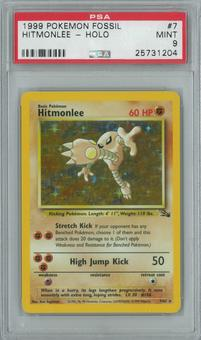 Pokemon Fossil Hitmonlee 7/62 Single PSA 9