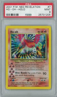 Pokemon Neo Revelation Ho-Oh 7/64 Single PSA 9