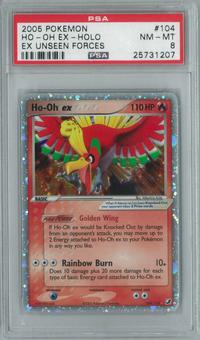 Pokemon EX Unseen Forces Ho-Oh ex 104/115 Single PSA 8