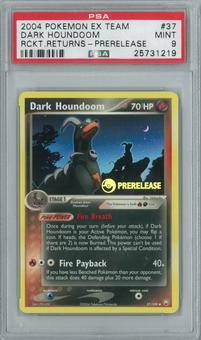 Pokemon EX Team Rocket Returns Dark Houndoom 37/109 Prerelease Single PSA 9