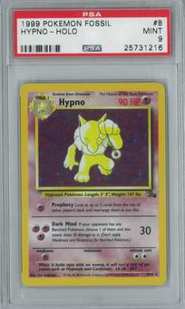 Pokemon Fossil Hypno 8/62 Single PSA 9