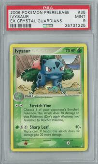 Pokemon EX Crystal Guardians Ivysaur 35/100 Prerelease Single PSA 9