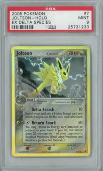 Pokemon EX Delta Species Jolteon 7/113 Single PSA 9