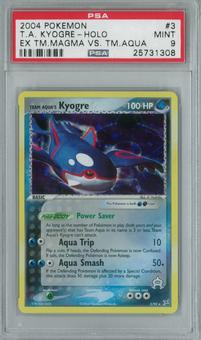 Pokemon Team Magma vs Team Aqua Kyogre 3/95 Single PSA 9