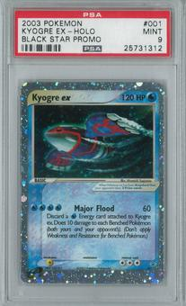 Pokemon Promo Kyogre ex 1 holo Single PSA 9