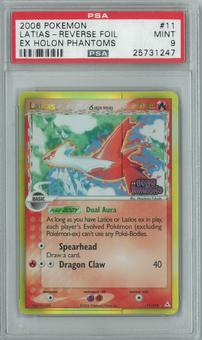 Pokemon EX Holon Phantoms Latias 11/110 reverse foil Single PSA 9