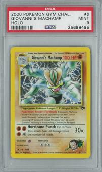Pokemon Gym Challenge Giovanni's Machamp 6/132 Single PSA 9