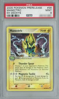 Pokemon EX Deoxys Manectric 38/107 Prerelease Single PSA 9