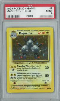 Pokemon Base Set Unlimited Magneton 9/102 Single PSA 9
