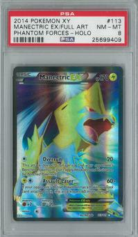 Pokemon Phantom Forces Manectric EX 113/119 Single PSA 8