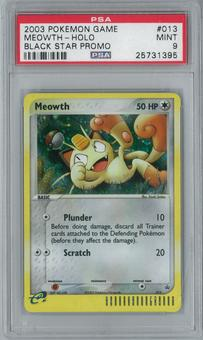 Pokemon Promo Meowth 13 Single PSA 9