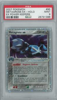 Pokemon EX Power Keepers Metagross ex 95/108 Single PSA 9