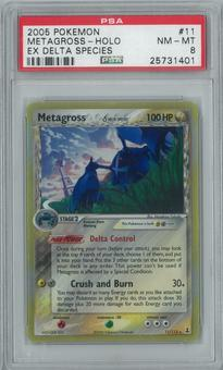 Pokemon EX Delta Species Metagross 11/113 Single PSA 8
