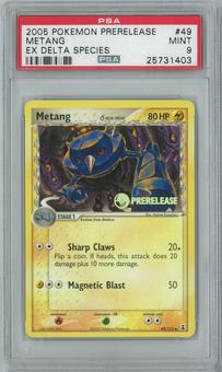 Pokemon EX Delta Species Metang 49/113 Prerelease Single PSA 9