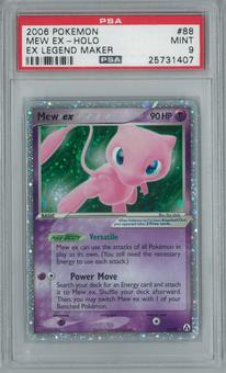 Pokemon EX Legend Maker Mew ex 88/92 Single PSA 9