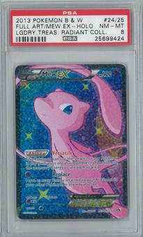 Pokemon Legendary Treasures Mew EX RC24/RC25 Single PSA 8
