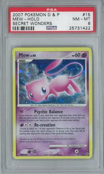 Pokemon Secret Wonders Mew 15/132 Single PSA 8