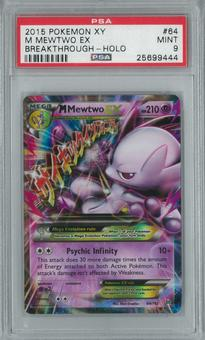 Pokemon Breakthrough M Mewtwo EX 64/162 Single PSA 9