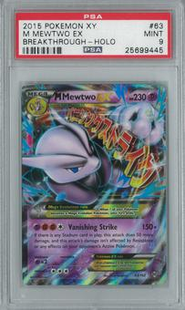 Pokemon Breakthrough M Mewtwo EX 63/162 Single PSA 9