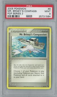 Pokemon POP Series 2 Mr. Briney's Compassion 8/17 Single PSA 9