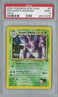 Pokemon Gym Challenge Giovanni's Nidoking 7/132 Single PSA 9