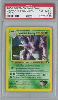 Pokemon Gym Challenge Giovanni's Nidoking 7/132 Single PSA 8.5