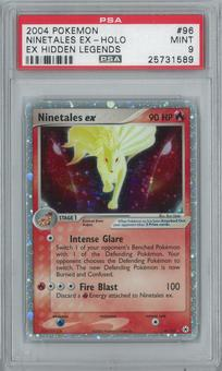 Pokemon EX Hidden Legends Ninetales ex 96/101 Single PSA 9