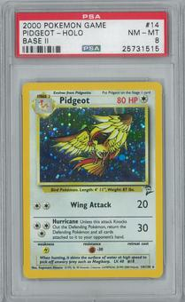 Pokemon Base Set 2 Pidgeot 14/130 Single PSA 8