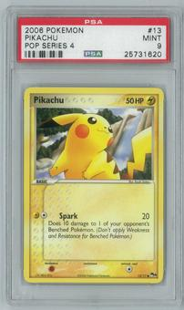 Pokemon POP Series 4 Pikachu 13/17 Single PSA 9