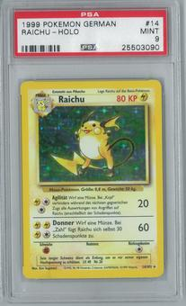 Pokemon German Base Set Unlimited Raichu 14/102 Single PSA 9