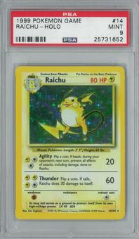 Pokemon Base Set Unlimited Riachu 14/102 Single PSA 9