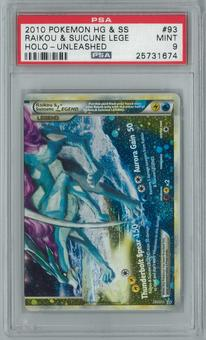 Pokemon Unleashed Raikou & Suicune LEGEND 93/95 Single PSA 9