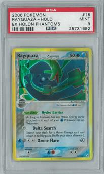 Pokemon EX Holon Phantoms Rayquaza 16/110 Single PSA 9